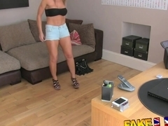 FakeAgentUK Busty MILF and her magic pussy causes