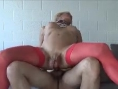 real sissy slut anal in chastity cage