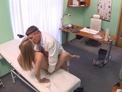Violette in Innocent blonde gets the doctors massage - FakeHospital