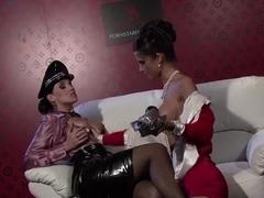 Incredible pornstars Nessa Devil and Bianca Oxa in amazing dildos/toys, lesbian sex movie