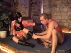 JJ worships Daria Glower's sexy feet then fucks her mossy treasure