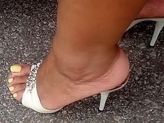 BBW In High Heel Mules