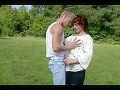 Busty Hairy Mature Fucked In The Countryside - 2