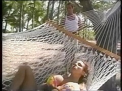 fake tits, fun on the beach