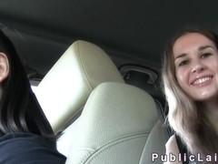 Hitchhiking amateur fucks for cash
