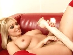 Lee Lexxus enjoys a dildo before being fisted hard