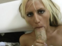 Rocco slams a nice busty blonde slut hard