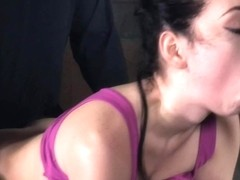 BDSM sub dominated in dungeon by maledoms