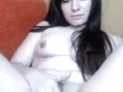 Masturbating naked with a sex toy