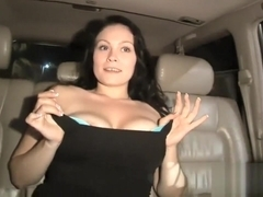 Dude Jizzed Hot Pussy In Taxi