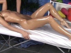 Agreeable blond drilled in the face hole