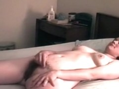 Chubby brunette gets her hairy pussy eaten out and missionary fucked