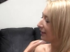 Gorgeous blonde chick is casting for a pornstar job