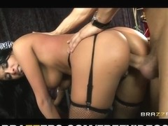 HAWT Lalin Girl burlesque dancer Anissa Kate squirts on stage