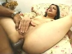 Brazilian whore fucked in the ass by black