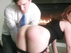 Small tited redhead, Ella got fucked very hard in the soft pussy, while she was tied up