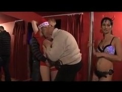 Amateur hungarian blowjob party with busty Monik and a girl