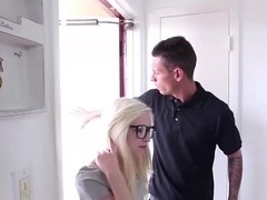 Petite and Cutie Blonde teen Piper gets filled with cum