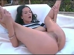 Sexy tattooed brunette fucked by bick dick