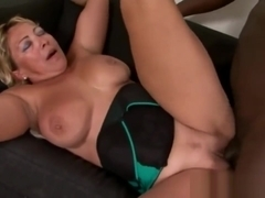 Blonde Mature Woman Fucks First Bbc
