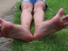 Eliza - Long Toes and Soles on Supple Callused Feet