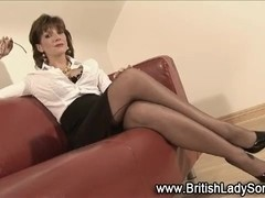 British Lady Sonia jerks cocks