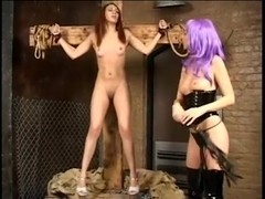 Two perverted sluts in kinky femdom game
