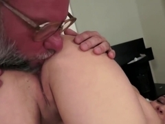 Teen rimmed by grandpa