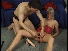Buxom blonde gets spanked and tortured