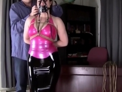 latex hogtied