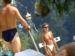 That is a russian beach that is packed up with naked women