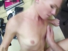 Blondie and sexy woman tries to sell her car sells her pussy to Shawn