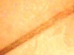 Topless girl in jeans with wet head on window voyeur video