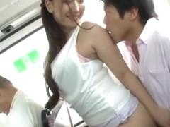 Sayuki Kanno naughty Asian milf gives handjob in public