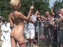 Fabulous pornstar in horny amateur, outdoor sex movie