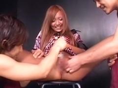 Amazing Japanese girl Haruka Sanada, Erika Kirihara, Ayaka Tomoda in Exotic Close-up JAV scene