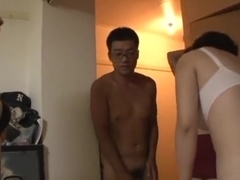 Mature Japanese AV models enjoying a stiff cock
