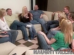 Party game leads to giant non-professional fuckfest