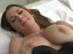 Voodoo touches Katerine's boobs as she masturbates