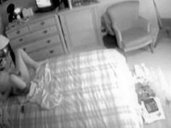 Hidden livecam. Caught my wicked mommy masturbating