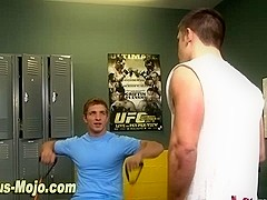 Pounded ripped jock blows
