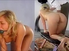 anal training for a golden-haired