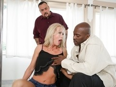Simone Sonay, Lexington Steele in Mom's Cuckold #14,  Scene #04