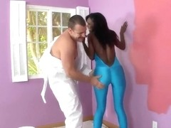 Ebony Hydie Waters teasing her neighbor and posing