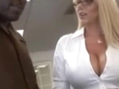 Blonde hottie loves big black cock with her twat