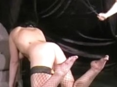 Extraordinary lesbo domination of my fair subbie being whipped