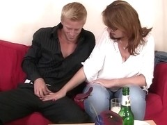 Breasty older whore is picked up in the bar and drilled