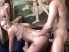 British Anal group sex