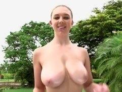 Brooke Wylde shows off her big natural boobs