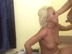 Horny MILF bone gets fucked in her holes like a whore